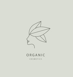 abstract organic eco natural care line vector image