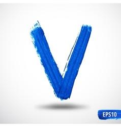 Alphabet letter v watercolor alphabet vector