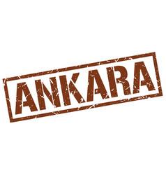 ankara brown square stamp vector image