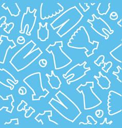 Background baby clothes blue vector