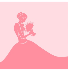 Background with bride vector image