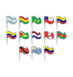 banderas de sudamerica vector image