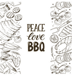 Bbq and grill banner vector