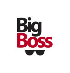 Big boss template design vector