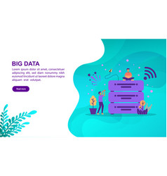 big data concept with character template for vector image