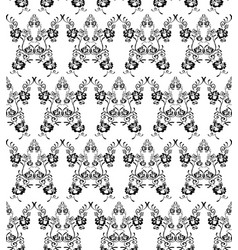Black and white flowers seamless pattern vector