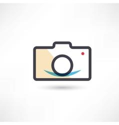 Black digital cam icon vector image