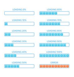 blue loading bar vector image