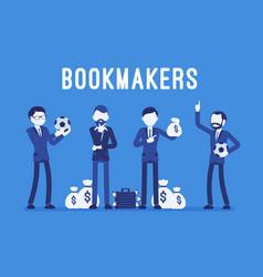 bookmakers men with money vector image