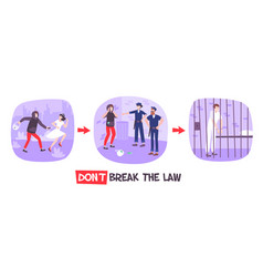 Breaking law compositions set vector