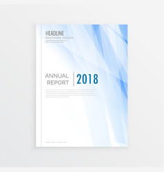 Brochure design template annual report cover vector
