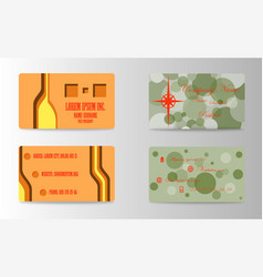 business card for print vector image