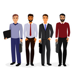 Business men cartoon vector
