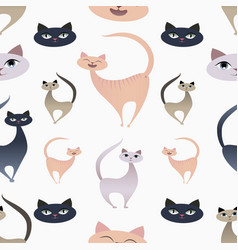cat patterns-03 vector image