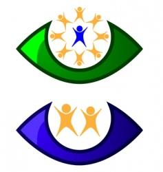 children care logo vector image