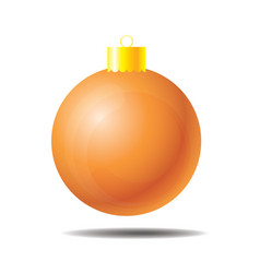 christmas ball orange 01 vector image
