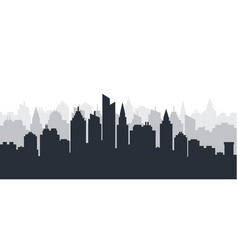 city silhouette land scape horizontal city vector image