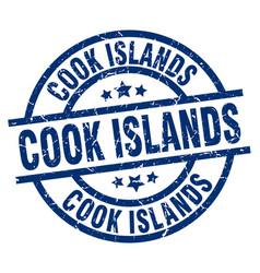 Cook islands blue round grunge stamp vector