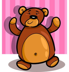 cute teddy bear cartoon in room vector image