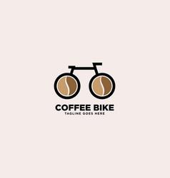 Cycle coffee logo design template vector