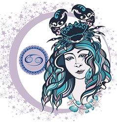 Decorative Zodiac sign vector image