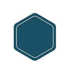 Design template pentagon badge or frame plain vector