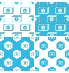 Dollar banknote patterns set vector image