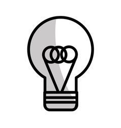 Figure flat bulb idea and creative icon vector