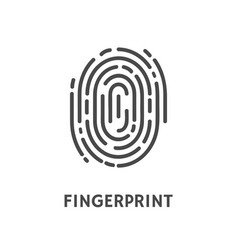 Fingerprint identification and verification vector