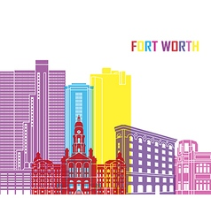 Fort Worth skyline pop vector