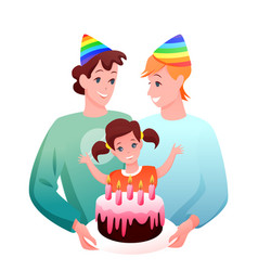 gay lgbt family celebrate vector image
