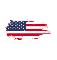 Grunge brush stroke with united states national vector