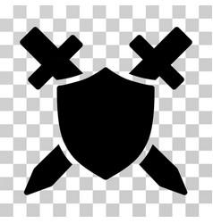 Guard shield icon vector