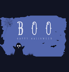Hallowee background with ghost and bat vector