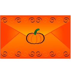 halloween letter vector image