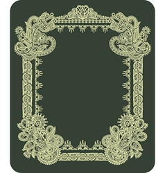 hand draw ornate vintage frame vector image