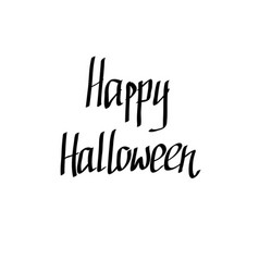 hand-written happy halloween words vector image