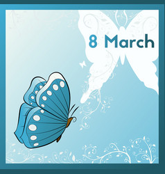 Happy 8th of march template greeting card vector