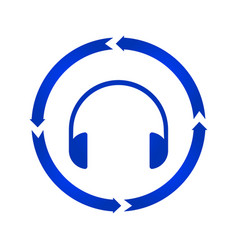 headphones turn icon vector image