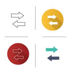 Horizontal swap icon vector
