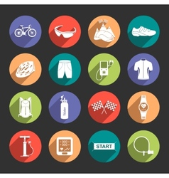 Icons bicycle in flat style vector