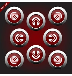 Icons with arrows eight directions vector