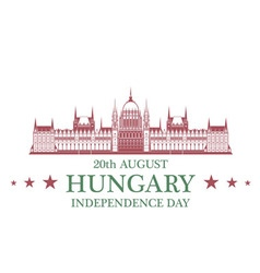 Independence Day Hungary vector