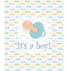 Its a boy card vector image