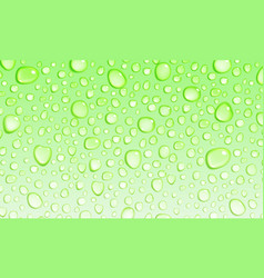 Light green background of water drops vector