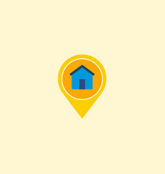 location icon flat element of vector image