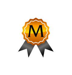 Logo quality letter m vector