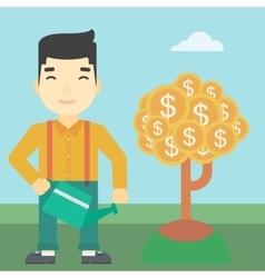 Man watering money tree vector image