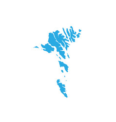 map of faroe islands high detailed map - faroe vector image