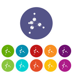 methanol icons set color vector image